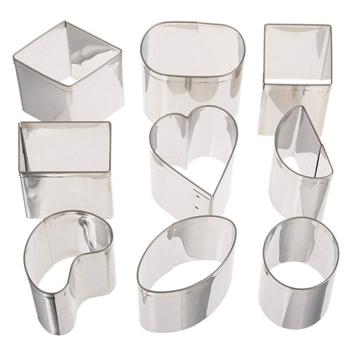Petit Four Cutters - Stainless Steel, 9-Piece
