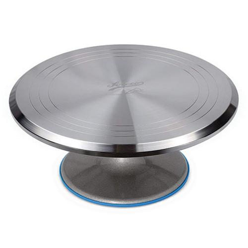 Revolving Cake Decorating Stand - Aluminum, 12-in