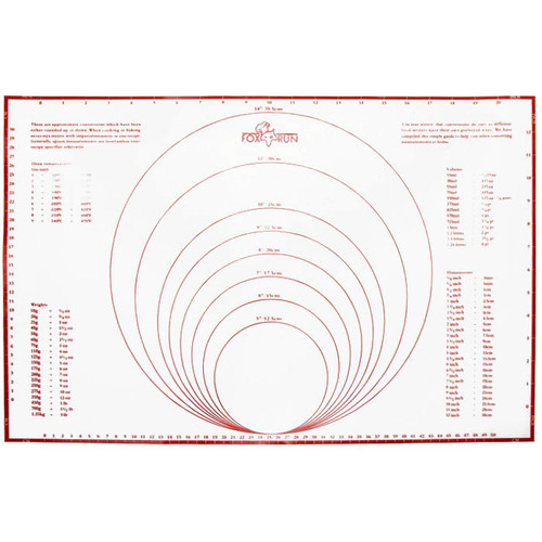 """Pastry Mat with Measurements - Silicone, 23.25"""" x 15.25"""""""