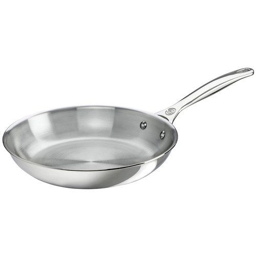 Stainless Fry Pan - Tri-ply Stainless, 10-in