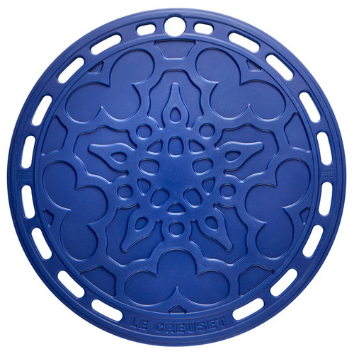 Blueberry Silicone French Trivet, 8-in