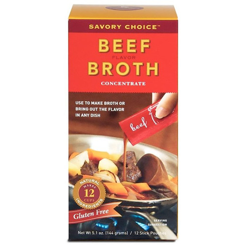 Beef Flavour Broth Concentrate, 12 Stick Pouches