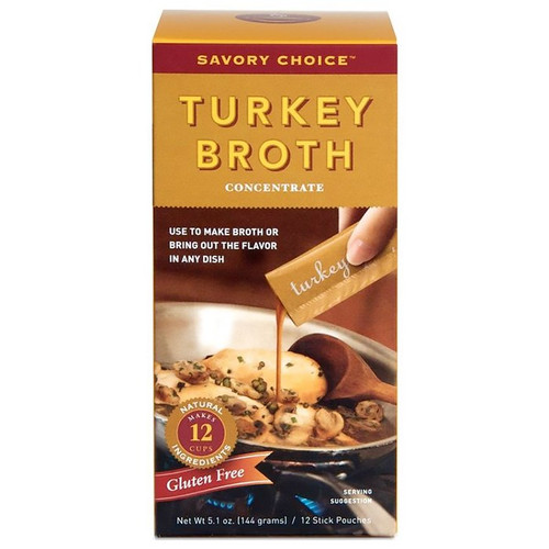 Turkey Broth Concentrate, 12 Stick Pouches