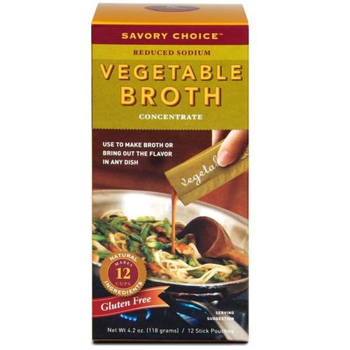 Vegetable Broth Concentrate - Low Sodium, 12 Stick pouches