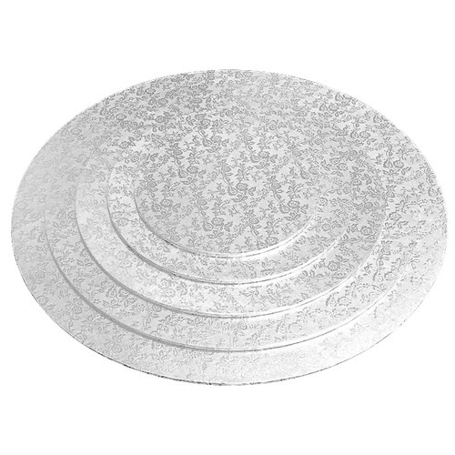 Cake Board -  Round Silver, 14-in