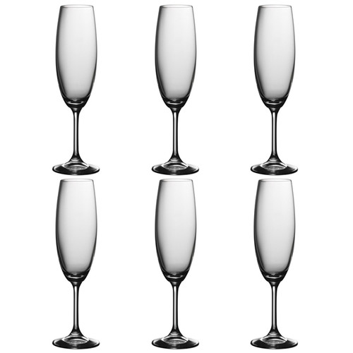 Serene Champagne Flutes , Set of 6