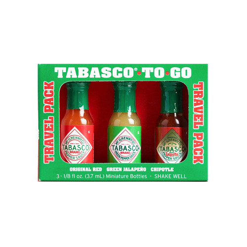 Mini To Go Travel Hot Sauces - Assorted, 3 Pack