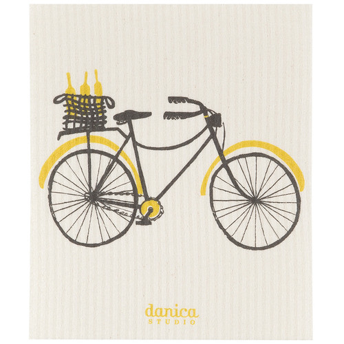 Swedish Dishcloth - Bicicletta, 6.5 x 8-in
