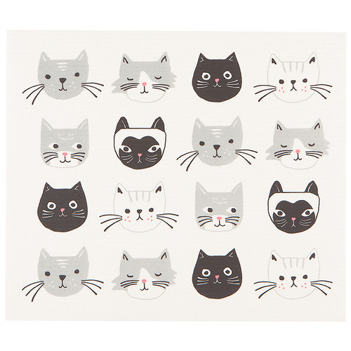 Swedish Dry Mat - Cats Meow, 12 x 14-in