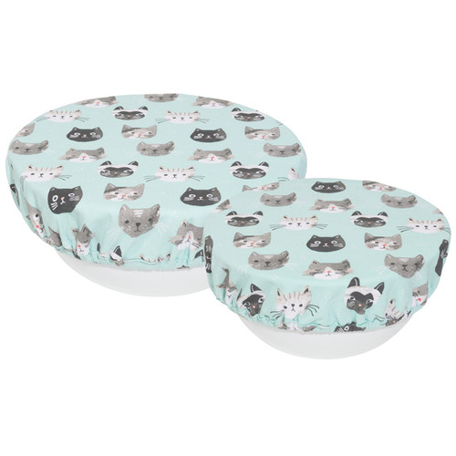 Bowl Covers - Cats Meow, Set of 2