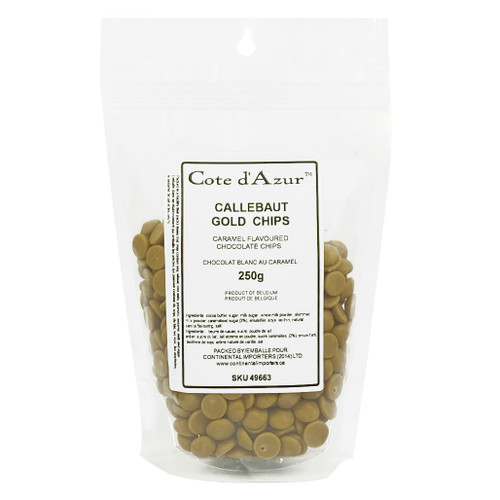 Callebaut Gold - Caramelized White Chocolate Chips, 250g