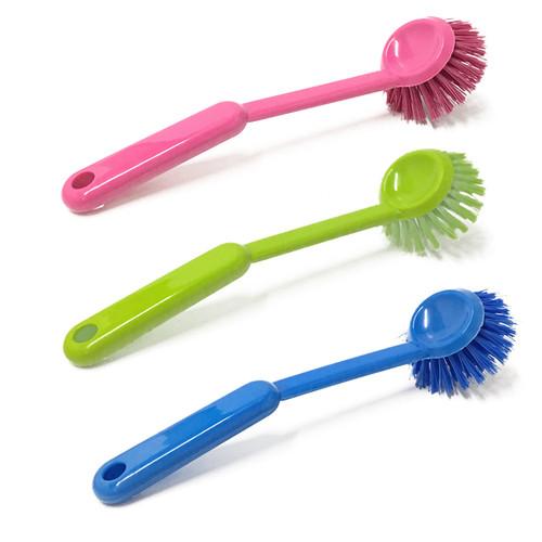 Round Dish Brush - Assorted Colours, 25cm
