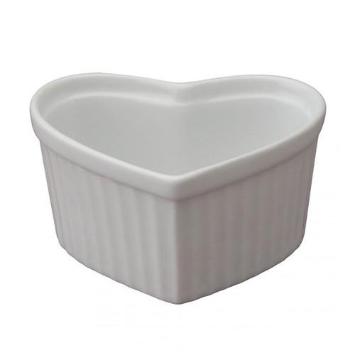 Heart-Shaped Ramekin - Porcelain, 6oz