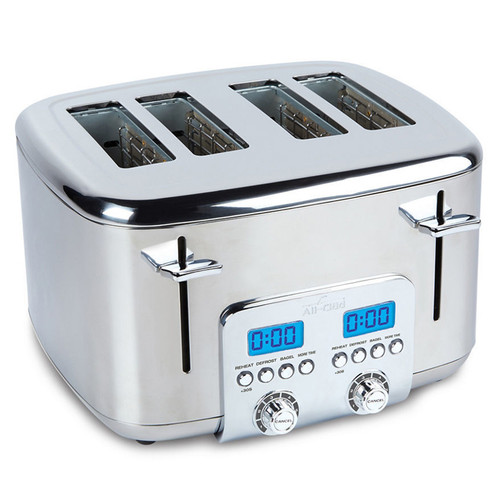 Digital Toaster 4-Slice - Stainless Steel
