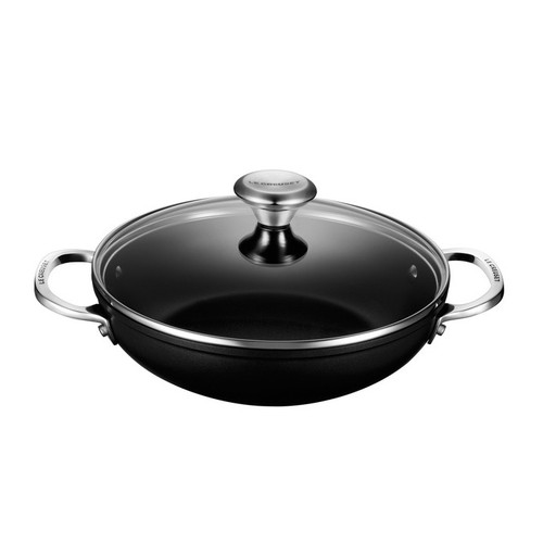 Saute Pan with Glass Lid - Toughened Nonstick, 9.5-in