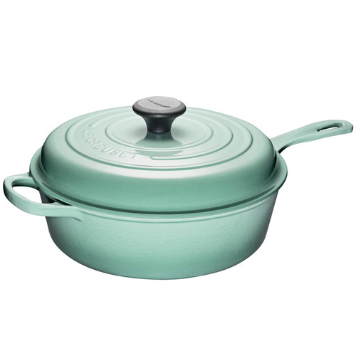 Sage Covered Sauté Pan - Cast Iron, 3.5L