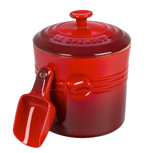 Cerise Pet Food Container with Scoop