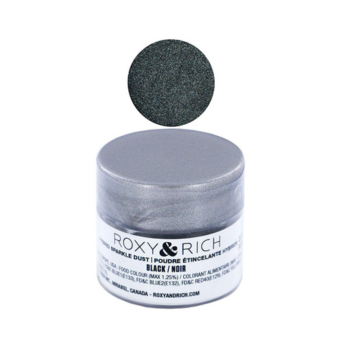 Edible Hybrid Sparkle Dust - Black, 2.5g