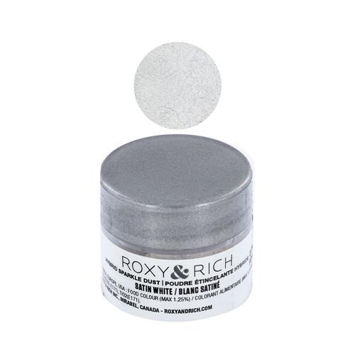 Edible Hybrid Sparkle Dust - Satin White, 2.5g