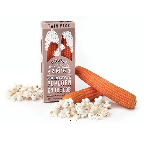 Microwave Popcorn on a Cob, Twin Pack