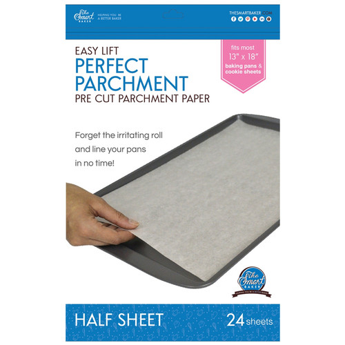Easy Lift 13x18-in - Pre-cut Parchment Sheets, 24 Sheets
