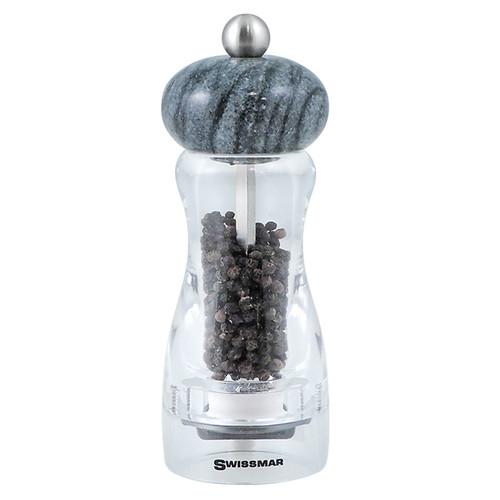 Andrea Pepper Mill - Dark Granite Top, 6-in