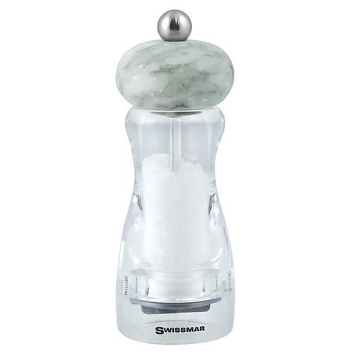 Andrea Salt Mill - White Granite Top, 6-in