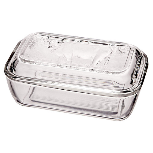 Cow Butter Dish - Glass