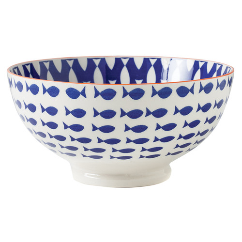 Kiri Porcelain Large Bowl - Fish, 8-in