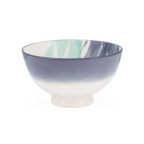 Kiri Porcelain Small Bowl - Watercolor Brush, 4.5-in