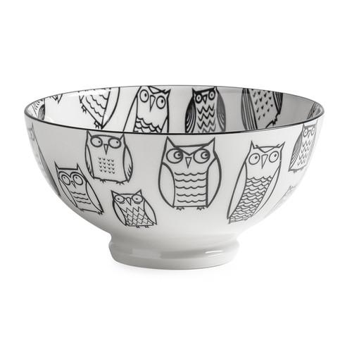 Kiri Porcelain Medium Bowl - Owl, 6-in