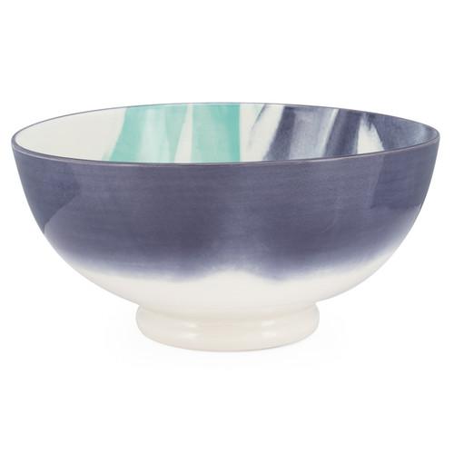 Kiri Porcelain Large Bowl - Watercolor Brush, 8-in