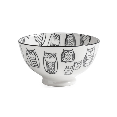 Kiri Porcelain Small Bowl - Owl, 4.5-in