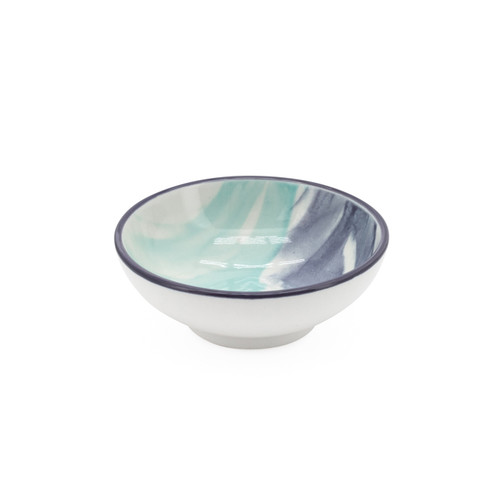 Kiri Porcelain Sauce Dish - Watercolor Brush, 3-in