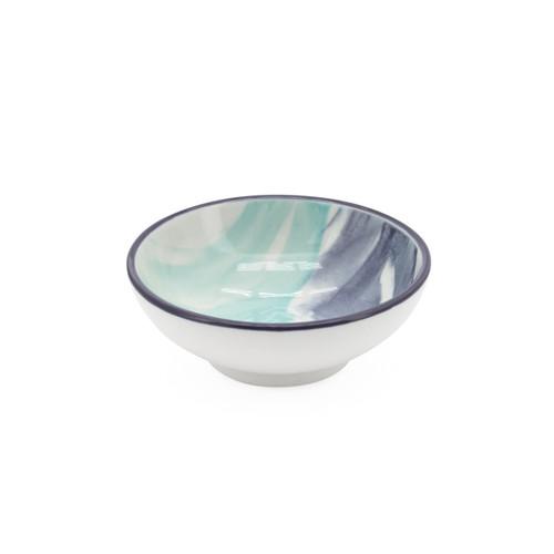 Kiri Porcelain Sauce Dish - Watercolor Brush, 3-in