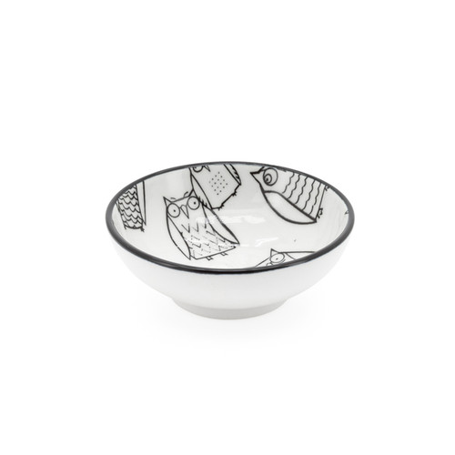 Kiri Porcelain Sauce Dish - Owl, 3-in