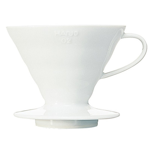V60 Coffee Dripper 02, White Ceramic