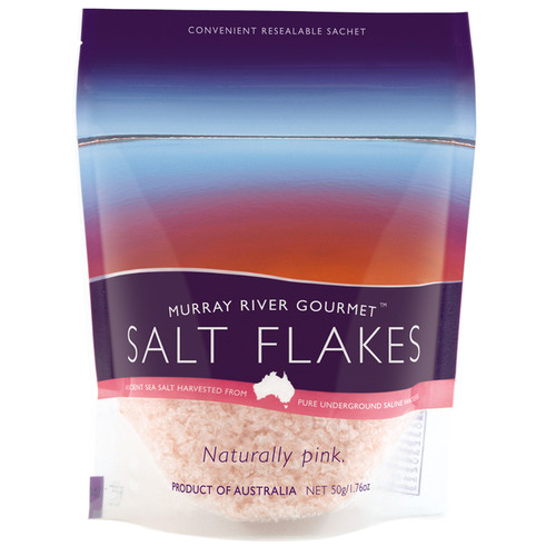 Murray River Salt Flakes - Resealable Pouch, 50g