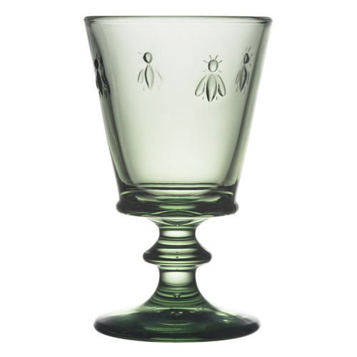 Bee Wine Glass - Provence Green, 9oz