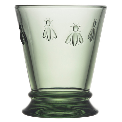 Bee Glass Tumbler - Provence Green, 9.5oz
