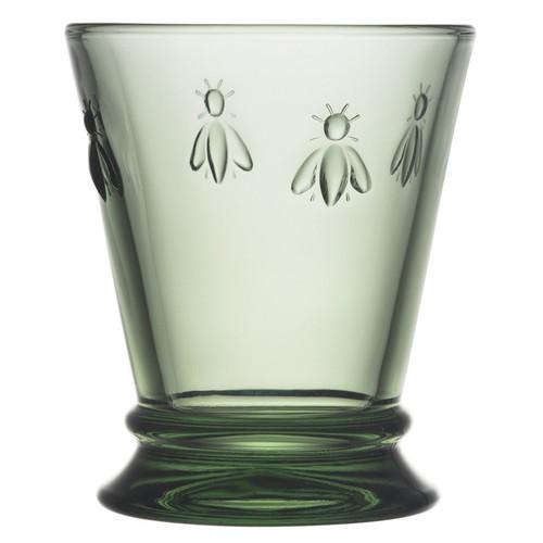 Bee Glass Tumbler - Provence Green, 9.5oz