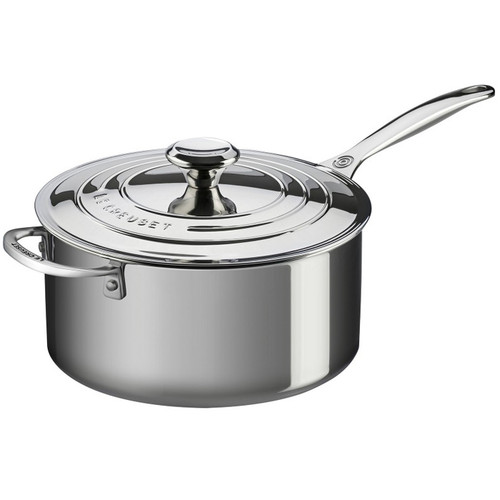 Essential Pan with Helper Handle - Tri-ply Stainless, 5.3L