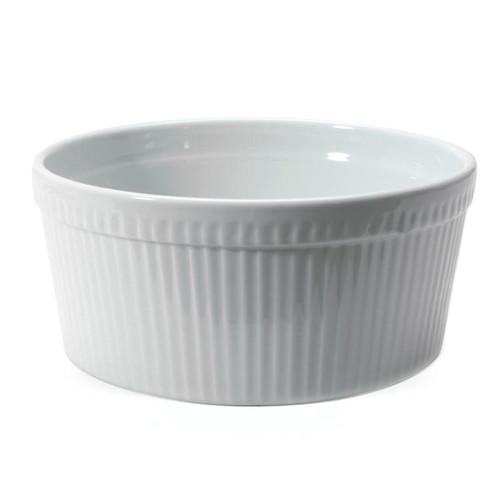 Soufflé Dish - White Porcelain, 8-in