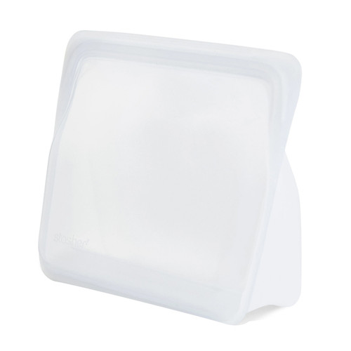 Reusable Silicone Stand-up Bag, Regular, Clear