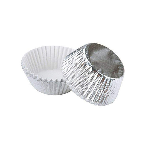 Silver Foil Candy Cups, Pack of 75