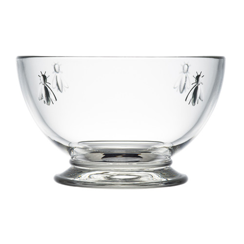 Bee Glass Cereal Footed Bowl