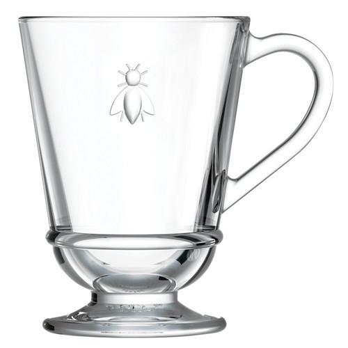 Bee Glass Coffee Mug