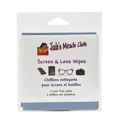 Screen & Lens Cloth Wipe, Pack of 2