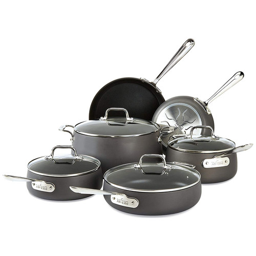 HA1 Hard Anodized Nonstick Cookware Set, 10 Piece