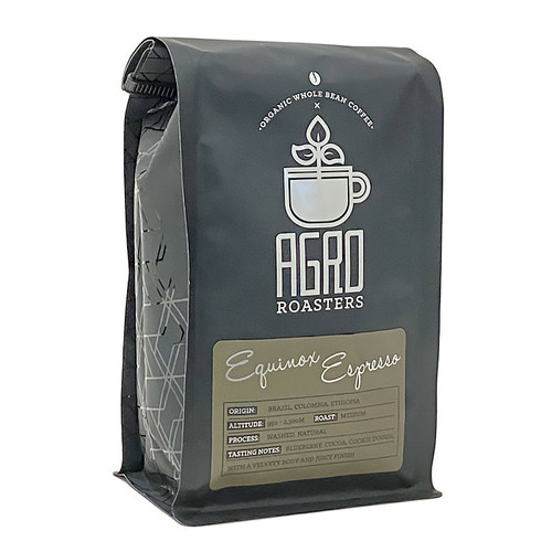 Equinox Espresso Organic Coffee Bean - Medium Roast, 340g